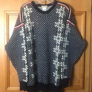 Vintage L.L Beam Norway man's L Wool Ski Sweater